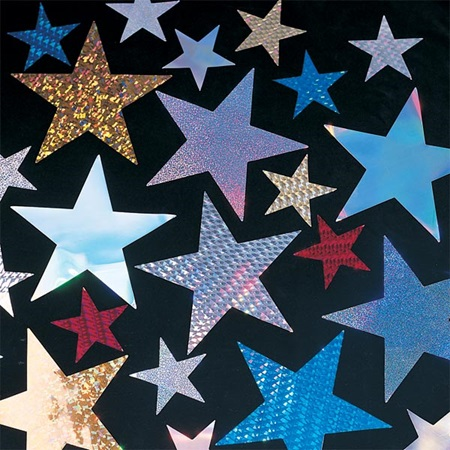 Holographic Stars - 2 1/2 inch