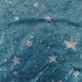 Silver Stars on Blue Gossamer - 19 inches x 25 yards