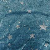 Silver Stars on Blue Gossamer - 59 inches x 25 yards