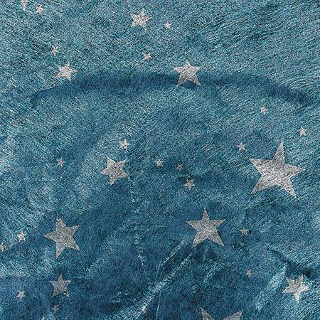 Silver Stars on Blue Gossamer - 59 inches x 50 yards