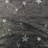 Silver Stars on Textured Black Gossamer - 59 inches x 25 yards