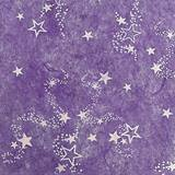 White Stars on Purple Gossamer - 59 inches x 25 yards