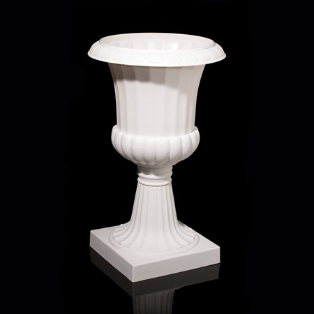 "White 19 1/4"" Plastic Planter Urn"
