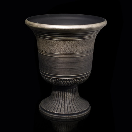 Decorative Urn with Stripes