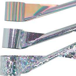 Silver Holographic Streamer - 2 inch x 100 feet