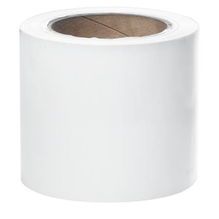 White Vinyl Streamer Roll - 4 inch x 500 feet