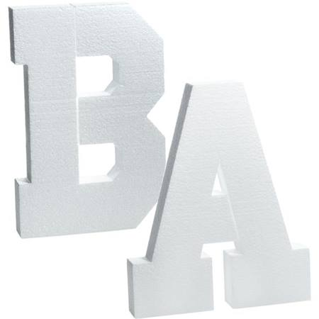White Styrofoam Letters and Numbers – 8 inch
