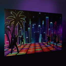 Chillaxin' Disco City Skyline Wall Kit
