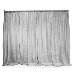 Metallic Silver Easy-Up Fabric Backdrop