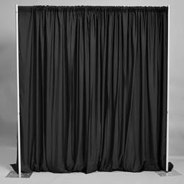 Black Easy-Up Fabric Backdrop