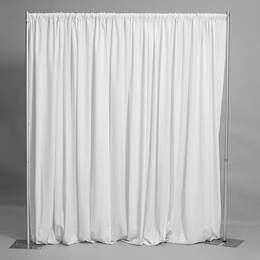 White Easy-Up Fabric Backdrop