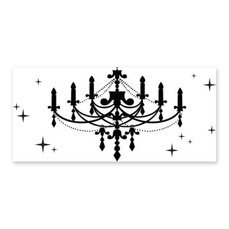 Black and White Chandelier Mural