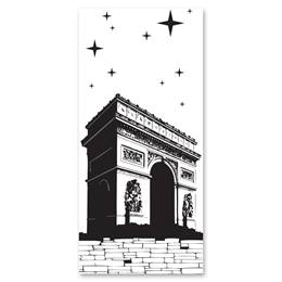 Black-and-White Mural - Arc de Triomphe