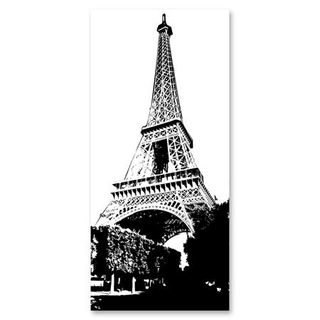 Black-and-White Mural - Eiffel Tower