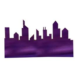 Purple Cityscape Silhouette Kit