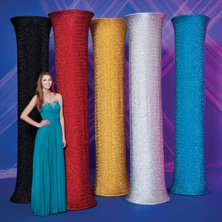 Glitter Fabric Covered Column