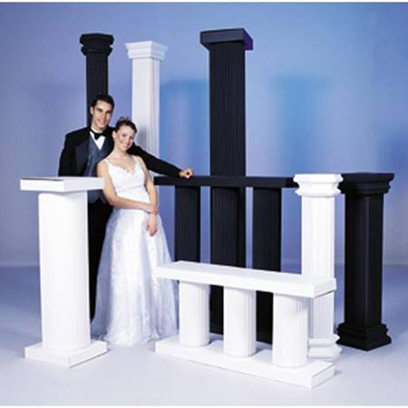 4 inch White Column (Set of 2)