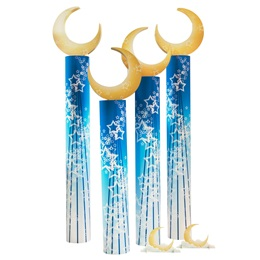 Cosmic Crescent Columns (set of 4) and Centerpieces (set of 3) Kit
