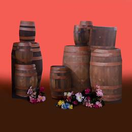 French Tavern Barrels Kit (set of 2)