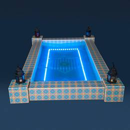 Marrakesh Mosaic Reflection Pool Kit