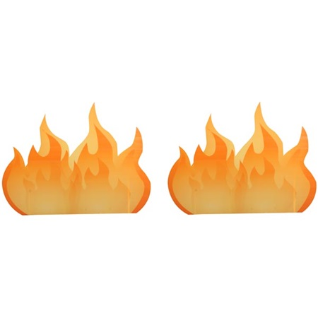 Burnin' Down the House Flames Kit (set of 2)