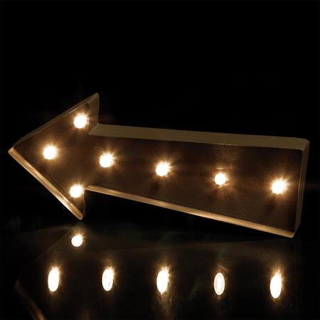 Marquee-style Lighted Arrow Prop