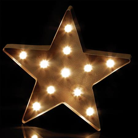 Marquee-style Lighted Star