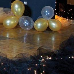 Balloon Clusters (set of 12) & Black Netting Floor Decor Kit