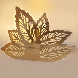 Golden Foliage Flower Silhouette Kit