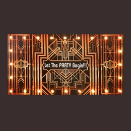 Let the Party Begin Hanging Sign Kit