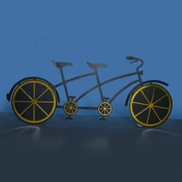 Golden Spokes Tandem Bicycle Kit