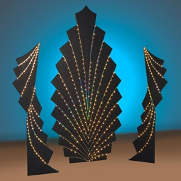 Lighted Waterfall Fans Kit