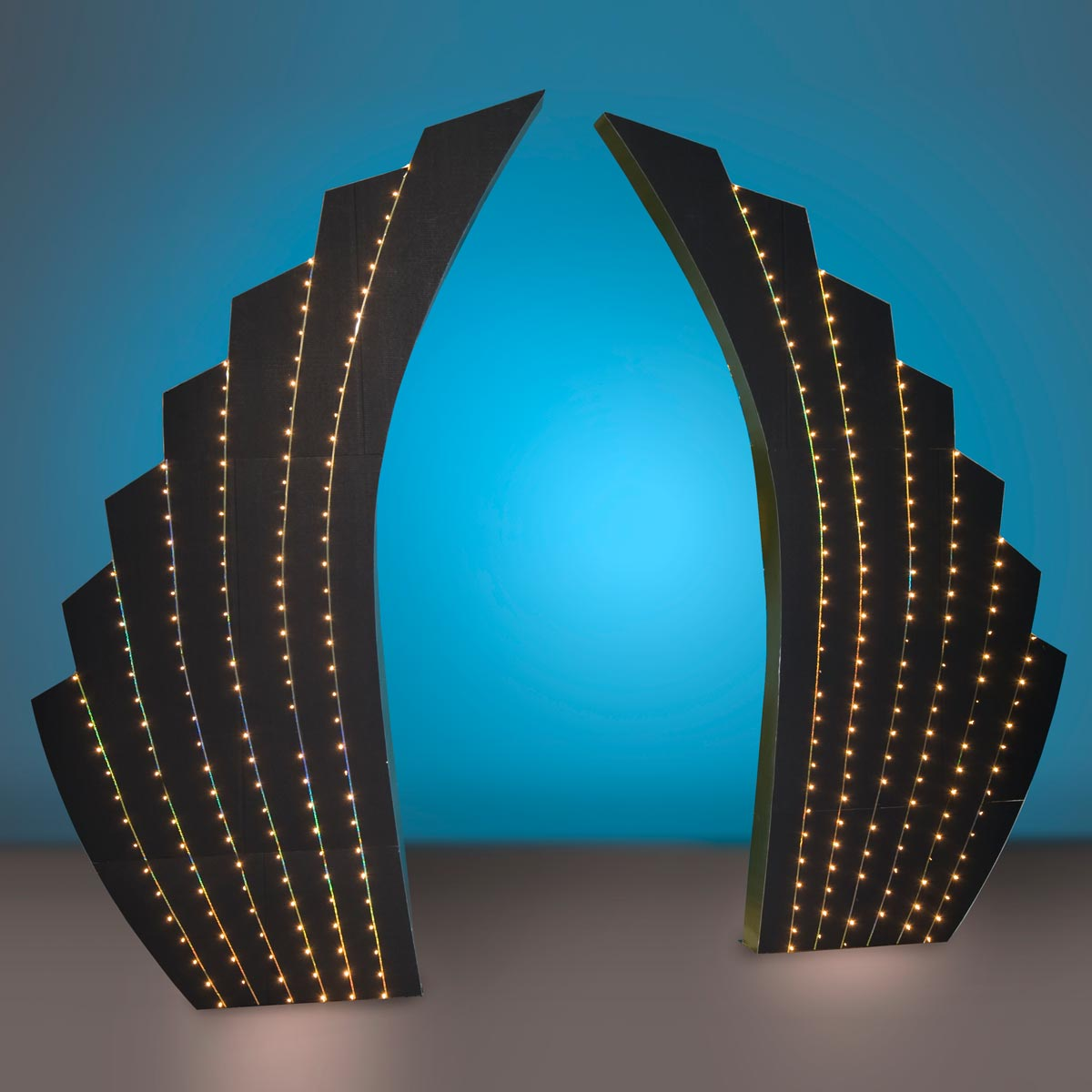 Lighted Waterfalls Half Fans Kit (set of 2)