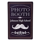 Personalized Black/White Mustache Photo Prop