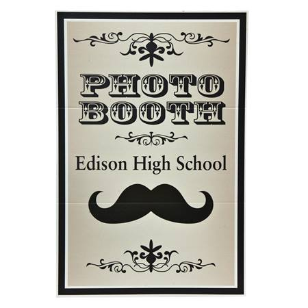 Personalized White/Black Mustache Photo Prop