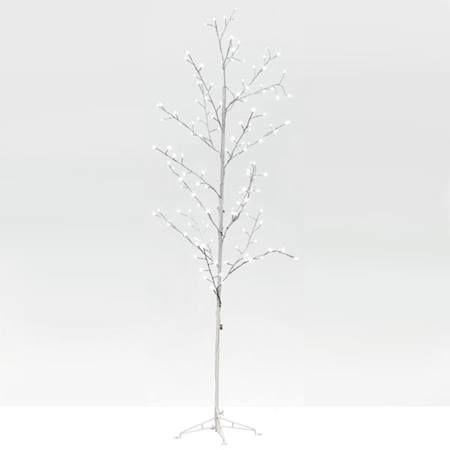 Lit White Wire Tree