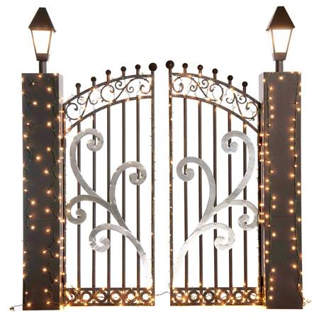 Lighted Corrugated Structures – Mansion Gate