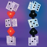 Lighted Wire Structure Set – Dice and Card Suit Columns