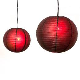 Crimson Kisses Lanterns Kit - Set of 12