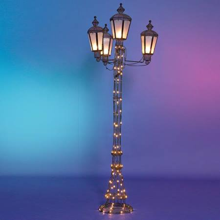 Four Lamp Wire Lamppost Kit