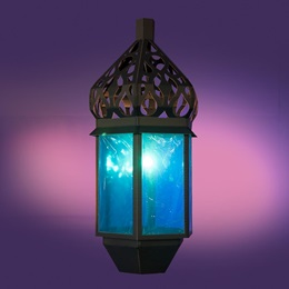 Casablanca Blue Glowing Lantern Kit