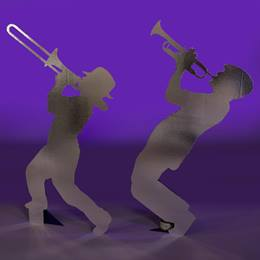 Harmonious Trombone and Trumpet Player Silhouettes Kit