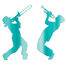 Teal Musicians Silhouettes Kit