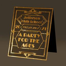 A Party for the Ages Floor Sign Kit
