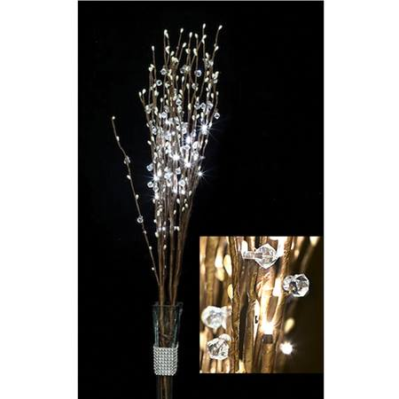 Lighted Crystal Branch Bouquet - Warm White