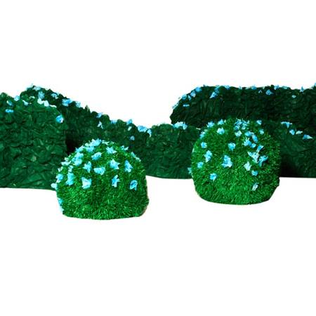 Hues of Blue Bushes (set of 2) and Hedges (set of 3) Kit