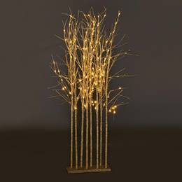 Small Champagne Sparkle Tree Cluster