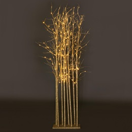 Large Champagne Sparkle Tree Cluster