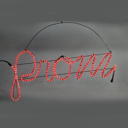 Lowercase Prom Sign