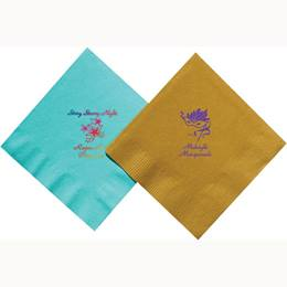 Imprinted Colored Beverage Napkins